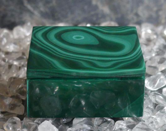 malachit pudełko z pokrywką 1