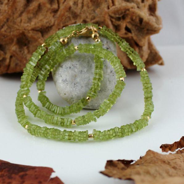 Unikatowa biżuteria - naszyjnik z peridotu 4