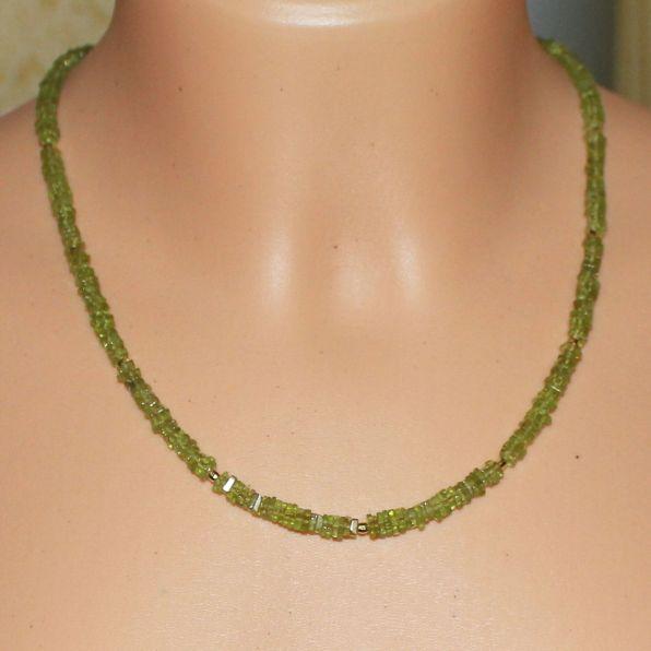 Unikatowa biżuteria - naszyjnik z peridotu 5