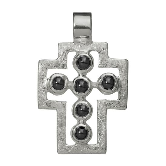Wisior - Krzyz w srebrze
