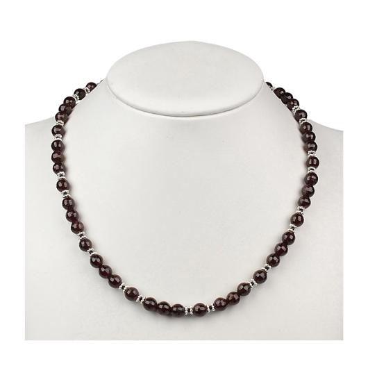 Collier Granat (Almandin), Onyx facettiert 1